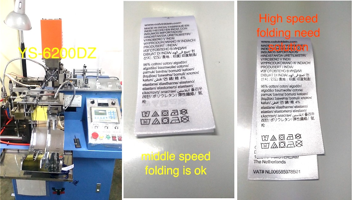 YS-6200DZ label cutting and fold problem solution